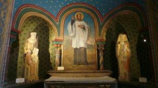 In de kathedraal in Le Puy en Velay