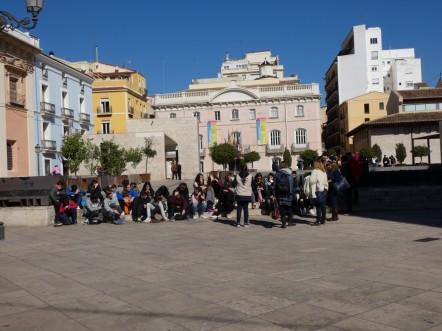 In het historische centrum